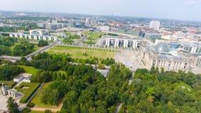 Vogelperspektive der Straße Berlin-Skyline vom 17. Juni, Deutschland Stockfotografie