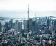 Vogelperspektive der Toronto-Skyline stockfoto