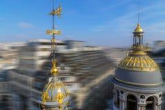 Vogelperspektive in der Unschärfebewegung von der Terrasse des Speichers Printemps, Lizenzfreie Stockbilder