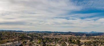 Vogelperspektive der Yucaipa-Ödländer, Süd-Kalifornien lizenzfreies stockbild