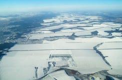 Vogelperspektive in der Zeit des Winters lizenzfreies stockfoto