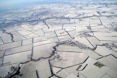 Vogelperspektive in der Zeit des Winters stockfotografie