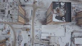 Vogelperspektive des Bau- und Entwicklungsstandorts stock video