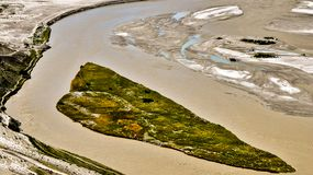Vogelperspektive des Flusses stockfotos