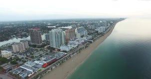 Vogelperspektive des Fort Lauderdale, Florida Vergrößerungsglas auf Karte stock footage