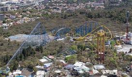 Vogelperspektive des Freizeitparks Mexiko City Lizenzfreie Stockfotos