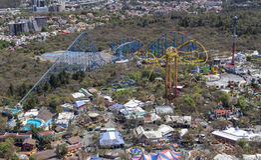 Vogelperspektive des Freizeitparks Mexiko City Stockbilder