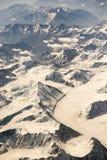 Vogelperspektive des Gebirgszugs in Leh, Ladakh, Indien Lizenzfreie Stockfotos