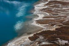 Vogelperspektive des Gokyo See-Türkiswassers und Lizenzfreies Stockfoto