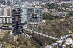 Vogelperspektive des hohen Gebäudes im Bau Lizenzfreies Stockbild