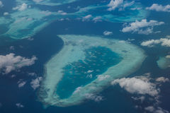 Vogelperspektive des indonesischen Riffs stockbilder