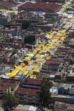 Vogelperspektive des lateinamerikanischen Straßenmarkt Lizenzfreies Stockfoto