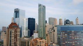 Vogelperspektive des Lower Manhattan, finanziell und des Geschäftsgebiets, New York City Brummen-Schuss stock video footage