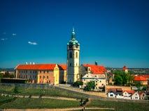 Vogelperspektive des Melnik-Kirchturms lizenzfreie stockfotografie
