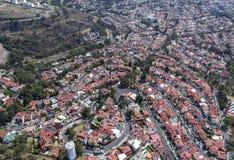 Vogelperspektive des mexikanischen Wohngebiets Lizenzfreies Stockfoto