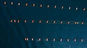 Vogelperspektive des Miesmuschelbauernhofes, adriatisches Meer Stockfoto