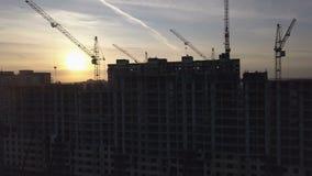 Vogelperspektive des modernen Stadtbaus und -entwicklung stock footage