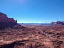 Vogelperspektive des Monument-Tales, Arizona, USA lizenzfreie stockfotografie