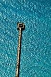 Vogelperspektive des Neapels, Florida, Pier, der in das turquo hervorsteht stockbild