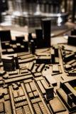 Vogelperspektive des Planes des Modells 3D Stadt stockfotos