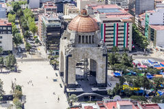 Vogelperspektive des Revolutionsmonuments in Mexiko City Stockfoto
