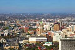 Vogelperspektive des San Antonio-Stadtzentrums Lizenzfreie Stockbilder