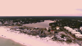 Vogelperspektive des Sees und des Ozeans Lizenzfreie Stockbilder