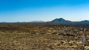 Vogelperspektive des Sporn-Kreuz-Ranch-regionalen Parks nahe Höhlen-Nebenfluss, Arizona stockbild
