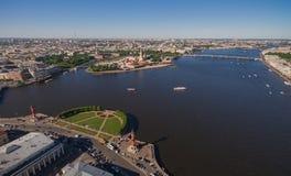 Vogelperspektive des Stadtzentrums in St Petersburg Stockfotos