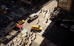 Vogelperspektive des Times Square, New York Lizenzfreie Stockfotos