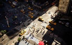 Vogelperspektive des Times Square, New York Lizenzfreie Stockbilder