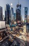 Vogelperspektive des Times Square, New York Stockbild