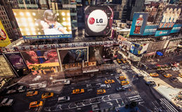 Vogelperspektive des Times Square, New York Lizenzfreies Stockbild