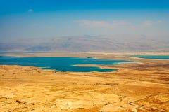 Vogelperspektive des Toten Meers in der Judaean-Wüste - Israel Stockbild