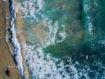 Vogelperspektive des tropischen Strandes Stockfoto