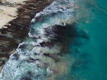 Vogelperspektive des tropischen Strandes stockfotografie