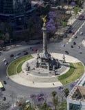 Vogelperspektive des Unabhängigkeitsengelsmonuments in Mexiko City Stockbilder
