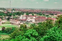 Vogelperspektive des University College-Krankenhauses UCH Ibadan Nigeria lizenzfreies stockfoto