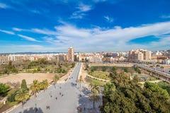 Vogelperspektive des Valencias Stockbild