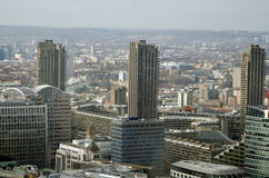 Vogelperspektive des Vorwerks, Stadt von London Stockfotografie