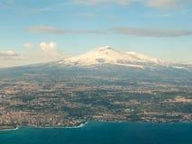 Vogelperspektive des Vulkans Ätna Lizenzfreie Stockfotografie