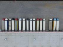 Vogelperspektive des Warenlagers Logistikmitte in der Industriestadtzone von oben stockfoto