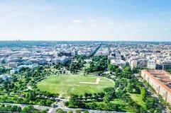 Vogelperspektive des Weißen Hauses und des National Mall im Washington DC, USA lizenzfreie stockfotos