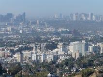 Vogelperspektive des westwood Stadtbilds stockfoto