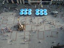 Vogelperspektive des zentralen Platzes Stockbilder