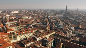 Vogelperspektive des zentralen Teils von Alessandria Piedmont, Italien stockfoto