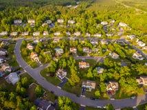 Vogelperspektive einer Plätzchen-Schneider-Nachbarschaft Stockbild