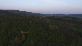 Vogelperspektive eines Berges stock video