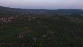 Vogelperspektive eines Berges stock footage