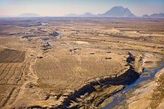 Vogelperspektive eines Dorfs in Kandahar-Provinz Lizenzfreie Stockfotografie